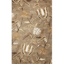 Florence Brown Wildflowers Area Rug