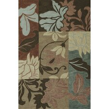 Milan Taupe Damask Views Rug