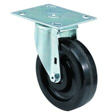 Medium Duty Institutional Casters - 6x1-1/2 institutional 99plate swivel caster
