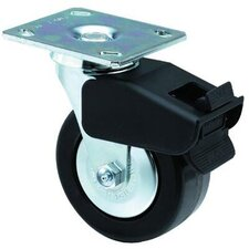 Medium-Heavy Duty Rigid Casters - 6x2 med hvy dty 90 plateswivel totallock caster