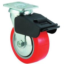 Medium-Heavy Duty Rigid Casters - 6x2 med hvy dty ar plateswivel totallock caster