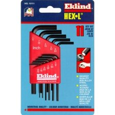Hex Key Set 11 Pc Sae Short .050-1/4In.