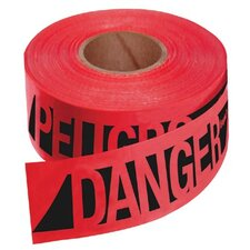 Empire Level - Safety Barricade Tapes Reinforced Danger/Peligobarr Tape-Rd W/Blk Prnt: 272-76-0604 - reinforced danger/peligobarr tape-rd w/blk prnt