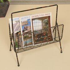 <strong>Passport Furniture</strong> Distressed Wire Magazine Rack