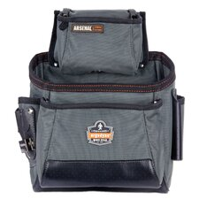 Arsenal 10-Pocket Tool and Fastener Pouch in Gray