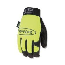 Large Lime Proflex® 812 Utility Glove With Spandex Back And Woven Elastic Wrist