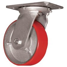 "Medium Heavy Duty Casters - 6"" whl. dia. rigid caster moldon polyure. 900lb"