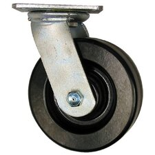 Medium Heavy Duty Casters - 8x2in phenolic swiveler phenolic 900lb cap.
