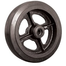 "Wheels - 4""x2"" rubber tread  castiron core wheel  1/2"" i"