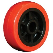 "Wheels - 4""x1.25"" polyurethane tread  poly core wheel  3/"