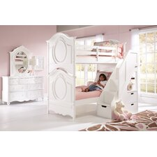 Sweet Heart Bunk Bed with Steps