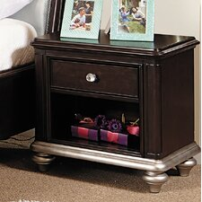 Girls' Glam 1 Drawer Nightstand