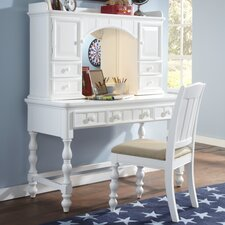 "Summer Time 50"" Writing Desk with Optional Hutch and Chair"