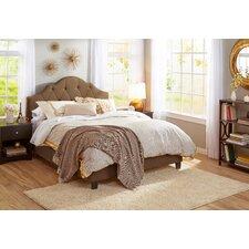 Upholstered Panel Queen Bed Frame in Sesame