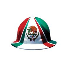 SUPEREIGHT® Class E, G or C Type I Thermoplastic Hard Hat With Full Brim, 3-R Ratchet Suspension And Mexican Flag Graphic