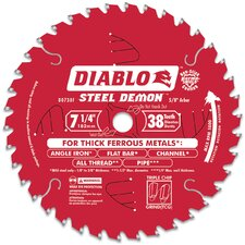 "7-1/2"" 38T Diablo™ Steel Demon™ Ferrous Metal Cutting Circul Blade D0738F"