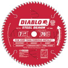 "7-1/4"" 70T Diablo™ Steel Demon™ Metal Circular Saw Blade  D0770F"