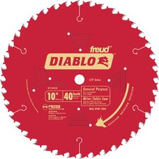 "10"" 40T Diablo General Purpose Chop Miter and Table Saw Blad  D1040X"