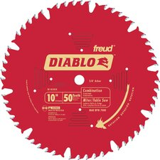 "<strong>Freud</strong> 10"" 50T Diablo™ Combination Chop Miter & Table Saw Blade  D1050X"