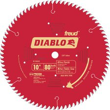 "<strong>Freud</strong> 10"" 80T Diablo™ Ultra Finish Work Chop/Slide Miter and Table Saw Blade D10"