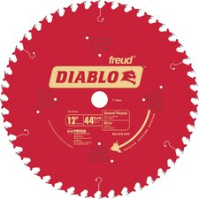 "12"" 44T Diablo™ General Purpose Chop/Slide  Miter Saw Blade  D1244X"