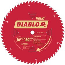 "16-5/6"" 60T Diablo™ Fine Finish Work Beam Saw Blade  D1660X"