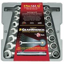 8 Pc. Combination Ratcheting Wrench Sets - 8pc fractional ratcheting wrench set