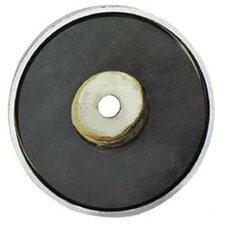 "Shallow Pot Ceramic Magnets - 2-5/8""dia. shallow potmagnet 35-lb pull"
