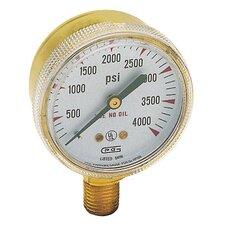 Pressure Gauges - gw 33-g20b-f4000p gauge2x4000