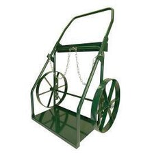 "300 Series Continuous Handle Hand Truck For Medium And Large Cylinders With 18"" Steel Wheels"