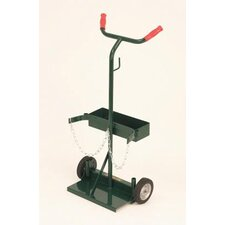 "140 Series Deluxe Uni-Handle For Small, Medium And Large Cylinders With 6"" Semi Pneumatic Wheels"