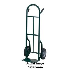 "53T Series Dual Pin Handle Steel Hand Truck With 8"" Offset Poly Hub Solid Rubber Wheels"