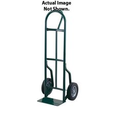 "59T Series Loop Handle Steel Hand Truck With 8"" Offset Poly Hub Solid Rubber Wheels"