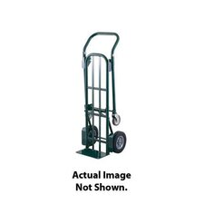 "DTT Series Multi-Purpose Platform/Hand Truck With 10"" Offset Poly Hub Solid Rubber Wheels And 5"" Poly Swivel Casters"