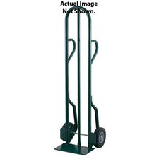 "CTD Series Tall Steel Hand Truck With Dual Loop Handle And 10"" Offset Poly Hub Solid Rubber Wheels"