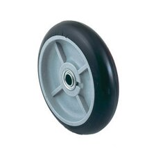 "8"" X 2 1/4"" Offset Poly Hub Mold-On Balloon Rubber Wheel"