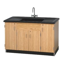 Clean Up Sink With Cabinets