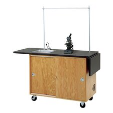 Mobile Laboratory Unit With Storage Cabinets