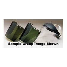 "X 15.5"" X .040"" Medium Green Schedule B Visor With Aluminum Binding"
