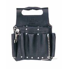 Tuff-Tote™ Tool Pouches - blk premium leather toolpouch w/ shoulder strap