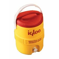 400 Series Coolers - 5 gal yellow/red plasticind. cooler