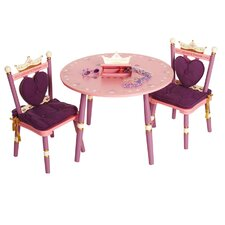 <strong>Levels of Discovery</strong> Princess Kids' 3 Piece Table and Chair Set