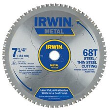 "Irwin - Metal Cutting Circular Saw Blades 7 1/4""  68T Mc - Thin Steel: 585-4935560 - 7 1/4""  68t mc - thin steel"