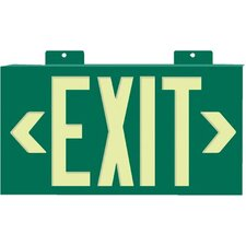 Glo Brite® Eco Framed Exit Signs - glo brite eco framed exit signs green frame