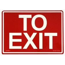 Glow In The Dark Exit Signs - peel and stick eg sign yellow/bl; red background