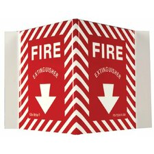 Glow In The Dark Fire Signs - glow in the dark fire extinguisher  rigid v-sign