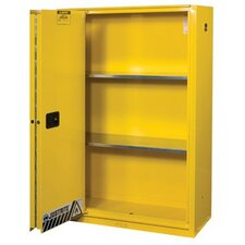 Justrite - Yellow Safety Cabinets For Flammables 45 Gal Ylw Safety Cabinet 1-Sliding Door: 400-894580 - 45 gal ylw safety cabinet 1-sliding door