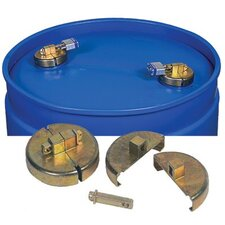 "Justrite - Drum Locks Drum Locks F/ 55 Gal Poly Drum W/Locks 2"" Npt: 400-08511 - drum locks f/ 55 gal poly drum w/locks 2"" npt"