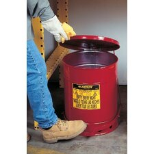 Red Oily Waste Cans - 6 gallon oily waste canw/o lever