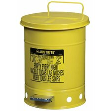 <strong>Justrite</strong> Yellow Oily Waste Cans - 6 gallon yellow oily waste can